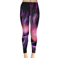 Fractal Image Of Pink Balls Whooshing Into The Distance Leggings