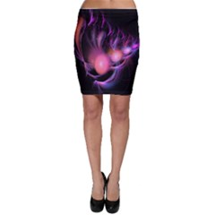 Fractal Image Of Pink Balls Whooshing Into The Distance Bodycon Skirt