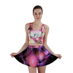 Fractal Image Of Pink Balls Whooshing Into The Distance Mini Skirt