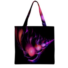 Fractal Image Of Pink Balls Whooshing Into The Distance Grocery Tote Bag