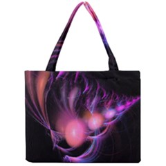Fractal Image Of Pink Balls Whooshing Into The Distance Mini Tote Bag