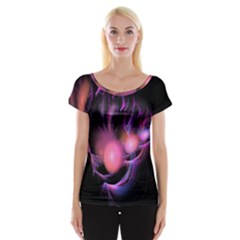 Fractal Image Of Pink Balls Whooshing Into The Distance Women s Cap Sleeve Top