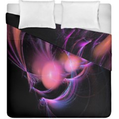 Fractal Image Of Pink Balls Whooshing Into The Distance Duvet Cover Double Side (king Size)