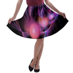 Fractal Image Of Pink Balls Whooshing Into The Distance A Line Skater Skirt