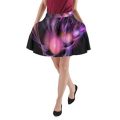Fractal Image Of Pink Balls Whooshing Into The Distance A-Line Pocket Skirt