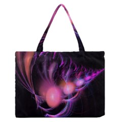 Fractal Image Of Pink Balls Whooshing Into The Distance Medium Zipper Tote Bag