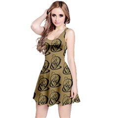 Art Abstract Artistic Seamless Background Reversible Sleeveless Dress