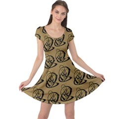 Art Abstract Artistic Seamless Background Cap Sleeve Dresses