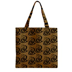 Art Abstract Artistic Seamless Background Zipper Grocery Tote Bag