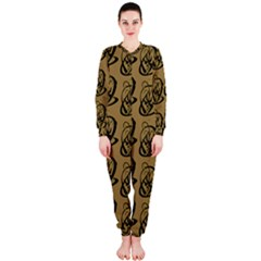 Art Abstract Artistic Seamless Background OnePiece Jumpsuit (Ladies)