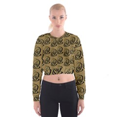Art Abstract Artistic Seamless Background Women s Cropped Sweatshirt