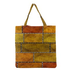 Classic Color Bricks Gradient Wall Grocery Tote Bag