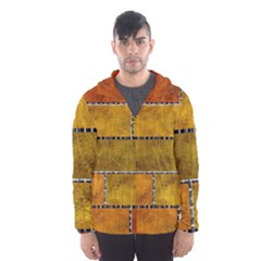 Classic Color Bricks Gradient Wall Hooded Wind Breaker (Men)