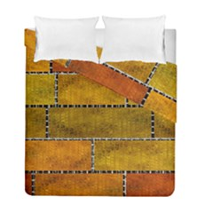 Classic Color Bricks Gradient Wall Duvet Cover Double Side (full/ Double Size)