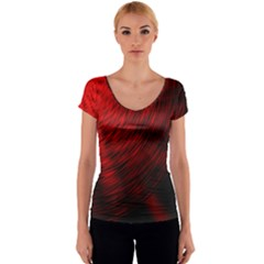 A Large Background With A Burst Design And Lots Of Details Women s V-Neck Cap Sleeve Top