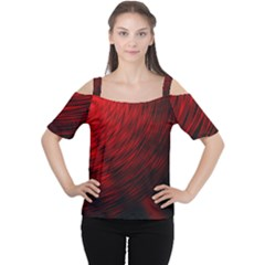A Large Background With A Burst Design And Lots Of Details Women s Cutout Shoulder Tee