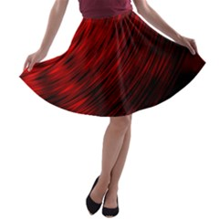 A Large Background With A Burst Design And Lots Of Details A-line Skater Skirt