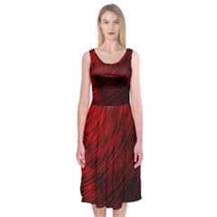 A Large Background With A Burst Design And Lots Of Details Midi Sleeveless Dress