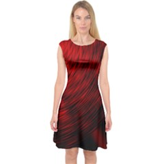 A Large Background With A Burst Design And Lots Of Details Capsleeve Midi Dress