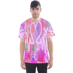 Watercolour Heartbeat Monitor Men s Sport Mesh Tee