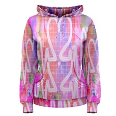 Watercolour Heartbeat Monitor Women s Pullover Hoodie