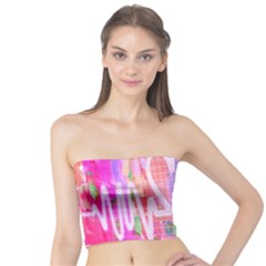Watercolour Heartbeat Monitor Tube Top