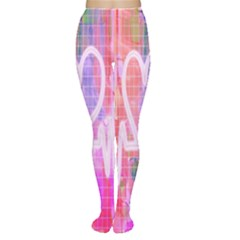 Watercolour Heartbeat Monitor Women s Tights