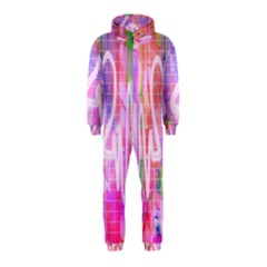 Watercolour Heartbeat Monitor Hooded Jumpsuit (kids)