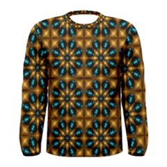 Abstract Daisies Men s Long Sleeve Tee
