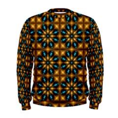 Abstract Daisies Men s Sweatshirt