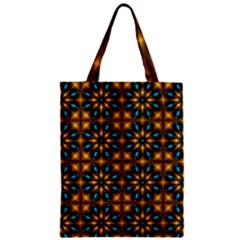 Abstract Daisies Zipper Classic Tote Bag