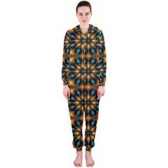 Abstract Daisies Hooded Jumpsuit (Ladies)