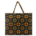 Abstract Daisies Zipper Large Tote Bag View1