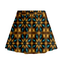 Abstract Daisies Mini Flare Skirt