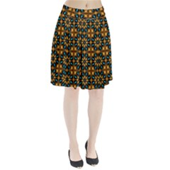 Abstract Daisies Pleated Skirt