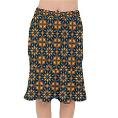 Abstract Daisies Mermaid Skirt