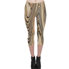 Abstract Background Design Capri Leggings