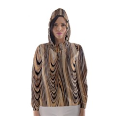 Abstract Background Design Hooded Wind Breaker (Women)