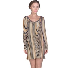 Abstract Background Design Long Sleeve Nightdress