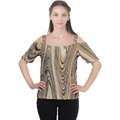 Abstract Background Design Women s Cutout Shoulder Tee