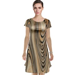 Abstract Background Design Cap Sleeve Nightdress