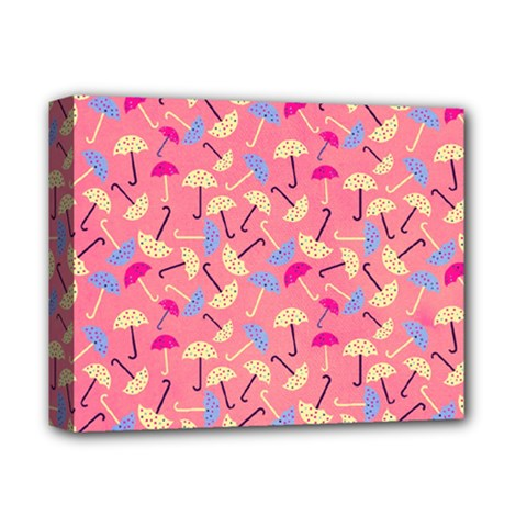 Umbrella Seamless Pattern Pink Deluxe Canvas 14  x 11