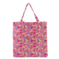 Umbrella Seamless Pattern Pink Grocery Tote Bag