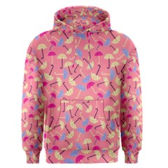 Umbrella Seamless Pattern Pink Men s Pullover Hoodie