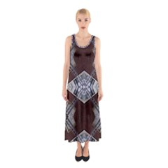 Ladder Against Wall Abstract Alternative Version Sleeveless Maxi Dress