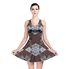 Ladder Against Wall Abstract Alternative Version Reversible Skater Dress
