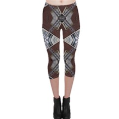 Ladder Against Wall Abstract Alternative Version Capri Leggings