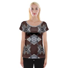 Ladder Against Wall Abstract Alternative Version Women s Cap Sleeve Top