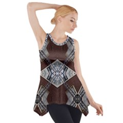 Ladder Against Wall Abstract Alternative Version Side Drop Tank Tunic