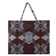 Ladder Against Wall Abstract Alternative Version Zipper Large Tote Bag